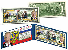 VLADIMIR PUTIN Colorized US $2 Bill Genuine Legal Tender United States Currency