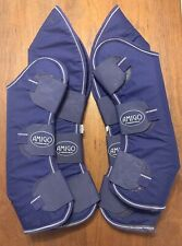 Horseware Ireland Padded Horse Size Travel Shipping Boots Atlantic Blue Set Of 4