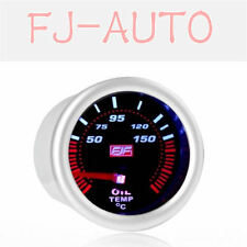 "2"" 52mm 50-150°c Tinted Shell Car Smoke Oil Temperature Gauges Meters Silver"