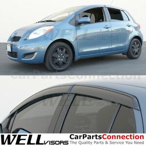 WellVisors For Window Visors For 09-11 Toyota Yaris Hatchback Sun Visors