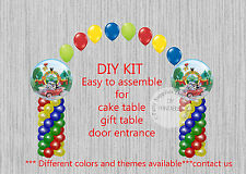 Mickey Mouse Clubhouse BALLOON ARCH with COLUMNS Birthday Party Decorations