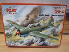 ICM 1/72 Su-2 ww11 Soviet Light Bomber model kit,