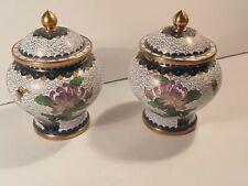 Pair of Vintage Chinese Enamel Vases