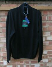 Mens 100% Merino Wool Jumper / Sweater Kirkland Signature Ex Lge Black BNWTs