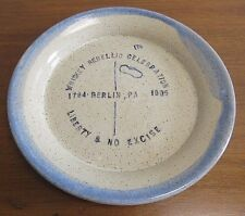Whiskey Rebellion, Berlin PA, Wheel Thrown Pottery Plate Signed Dave Sarver 9.5""