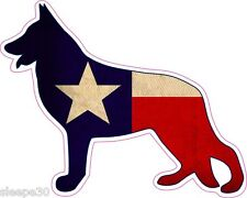 German Shepherd Texas Flag Vinyl Window Decal Sticker