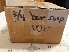 Facial Soap # 3/4 Bar, 100 Count Carton Motel Travel Size Boardwalk Brand