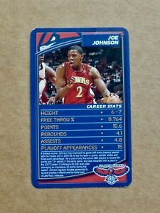 2007 Basketball TOP TRUMPS Card - Joe JOHNSON - Atlanta Hawks - UK Edition
