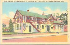Linen Advertising Heilman Brewing Co. Lager Beer La Crosse Wisconsin 1940s