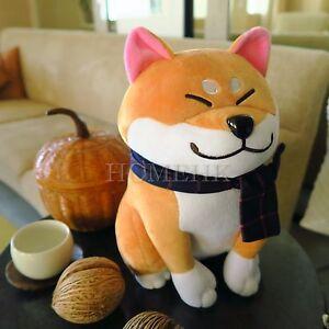 Shiba Inu Dog Doll Large Plush Stuffed Fur Curly Toy Cute Puppy Brown Japan Gift
