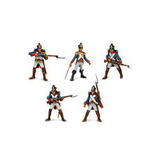 NAPOLEON'S ARMY-set of 5 MINIATURES (54mm scale, plastic, unpainted) by TEHNOLOG