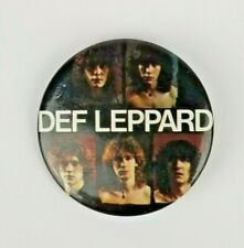 Vintage Def Leppard 1980's Pin Button Badge Classic