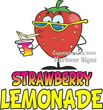 Strawberry Lemonade DECAL (CHOOSE YOUR SIZE) Food Truck Sign Concession Sticker