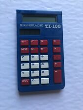 Texas Instrument Ti-108 Calculator Blue