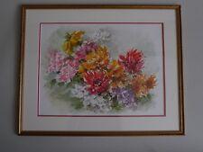 Lucienne Frochot, Dijon. Aquarelle représentant un bouquet de fleur, XXe