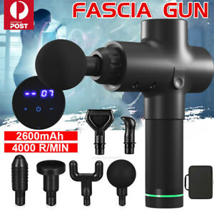 POWERFUL 6 Heads LCD Massage Gun Percussion Vibration Deep Tissue Muscle Therapy