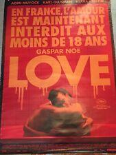 Affiche cinéma film LOVE de Gaspar Noé - Edition limitée rare interdiction -18