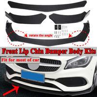 Nero di carbonio Spoiler paraurti anteriore labbro Splitter Chin per  !