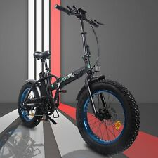 "Folding Electric Fat Tire Bike Beach Bicycle City Ebike 20"" 48v 13ah 500w"