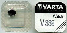 (Sr 614 Sw) Silver Oxide Watch 5 batteries varta Round Buttons v339/v 339