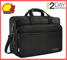 17 Inch Laptop Travel Bag Briefcases Water Resistant with Organizer, Expandable