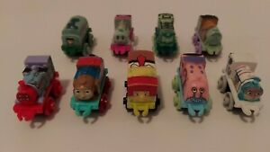 Thomas & Friends Train Tank MINIS - SPONGEBOB LOT OF 9 COMPLETE SET
