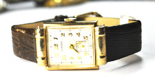 Vintage Sussex 14k Solid Gold Manual Wind Hooded Lug Wristwatch A38A C1003