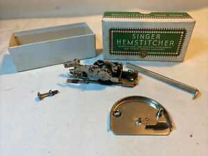 Singer Hemstitcher And Picot Edger 121387 Sewing Machine Plate 121388 & Box 1942