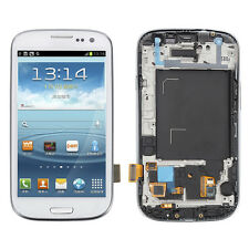 Full LCD Touch Digitizer Glass Frame F Samsung Galaxy S3 Neo GT-i9300I ~Bianco
