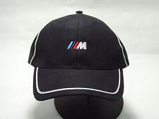BMW /// M SPORT Men's Baseball HAT CAP BLACK WITH WHITE STRIPE 80162208702 M3 M5