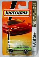 '71 OLDSMOBILE VISTA CRUISER * 2009 MATCHBOX * LIME GREEN CUT TRI SPOKE WHEEL