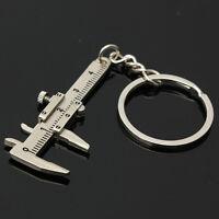 Mini 10CM Vernier Caliper Pendant Keyring Slider Slides Useful Tool Key Chain