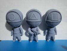 Squid Game Characters/Soldiers Chibi style. 3d resin printed,Set of x3!