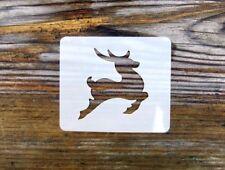 Prancer Reindeer Face Painting Stencil 6cm x 7cm Washable Reusable