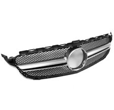 2015-2016 MERCEDES-BENZ W205 C-CLASS UPPER MAIN MESH GRILLE GRILL CHROME TRIM