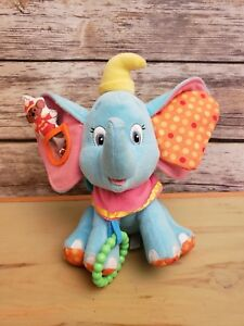Disney Baby Kids Preferred Plush Dumbo Take Along Stroller Clip Crinkle Toy