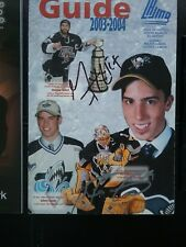 Marc-Andre Fleury And Maxime Talbot Signed QMJHL Media Guide