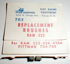 1 Pr Replacement Brushes RAM 222 426A & Pittman 704 vintageRacing Motor NOS #703