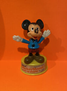 "Vintage 1977 Disney Mickey Mouse 4"" Push-Up Puppet Toy Gabriel Industries Rare"