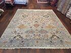 Sale Genuine Hand Knotted Indo Oushak Heriz Geometric Area Rug Carpet 8'1x10',13