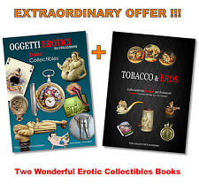 2 RARE EROTIC COLLECTIBLES BOOKS Antique Watches Pipes Toys Canes Snuffboxes