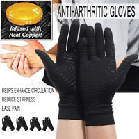 Anti Arthritis Copper Compression Therapy Gloves Hands Pain Relief With  AU K