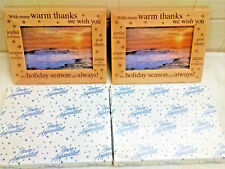 2 NEW-Wood picture frames-Many warm thanks this Holiday Season-Christmas Gifts!