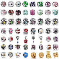 European Crystal Charms Bead Pendant Fit Sterling 925 Silver Bracelets Necklace