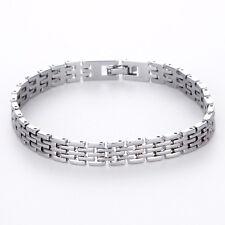 Fashion Men`s Stainless Steel Link Chain Bracelet Cuff Bangle Wristband Jewelry
