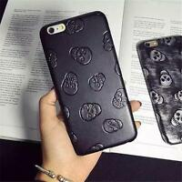 Ultrathin Soft Synthetic Leather Skull Phone Case Cover For iPhone 6 6 Plus