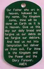 WOW! THE LORD'S PRAYER ON A GI ID TAG! NEW & COOL!