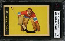 1960-61 PARKHURST~#53~JACQUES PLANTE~HALL OF FAME~MONTREAL CANADIENS~KSA 8 NM-MT