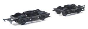 Parkside Models PA108 LNWR 8ft Coach Bogies & wheels Pk2 Plastic Kit OO Gauge