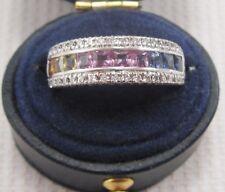 Sapphire & Diamond Ring set in 14ct White Gold